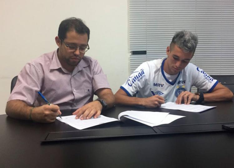 O contrato do jogador tem opção para mais um ano de extensão - Foto: Felipe Oliveira | EC Bahia