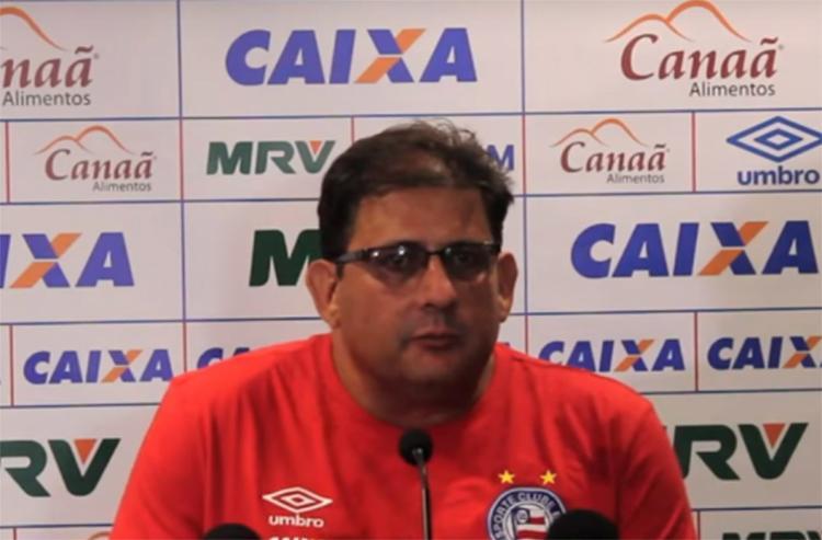 Técnico do Tricolor disse que 'o resultado é o que menos importa' - Foto: Reprodução l TV Bahêa Oficial