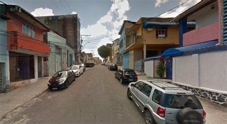 O prédio que desabou fica na rua Amparo do Tororó, no Tororó - Foto: Reprodução | Google Maps