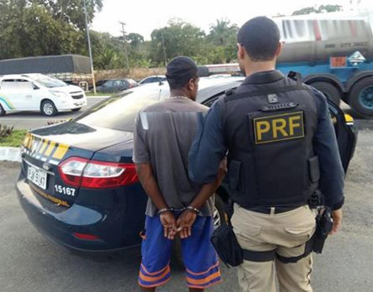 Homem estava foragido desde meio de 2014 - Foto: Divulgação | PRF