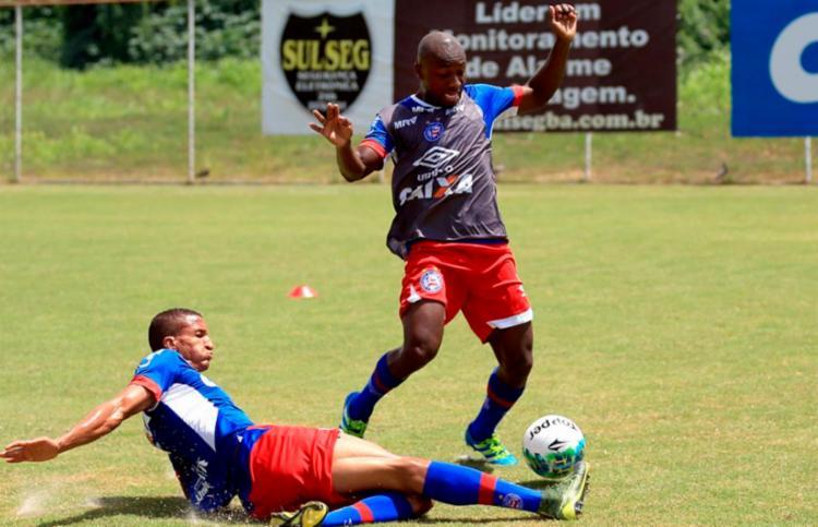 O Bahia foi ao batente na manhã desta quinta - Foto: Felipe Oliveira | EC Bahia