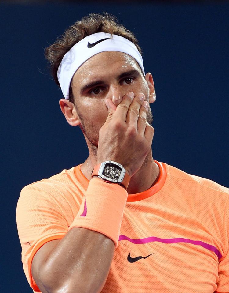 O espanhol perdeu o duelo por 2 sets a 1 - Foto: Saeed Khan | AFP