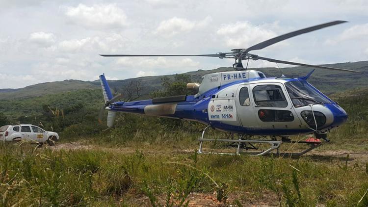 Uma equipe de 14 brigadistas e bombeiros da PM permaneceu no local durante nesta sexta, monitorando a região - Foto: Divulgação l Ascom-Sema