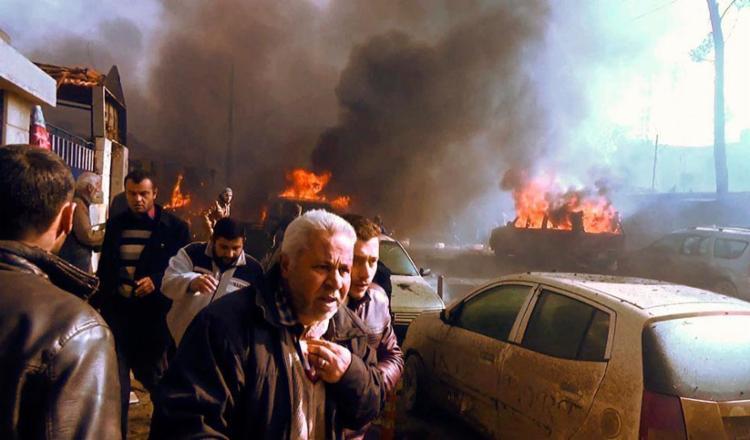 Carro explodiu próximo a fronteira com Turquia - Foto: Stringer | AFPTV | AFP