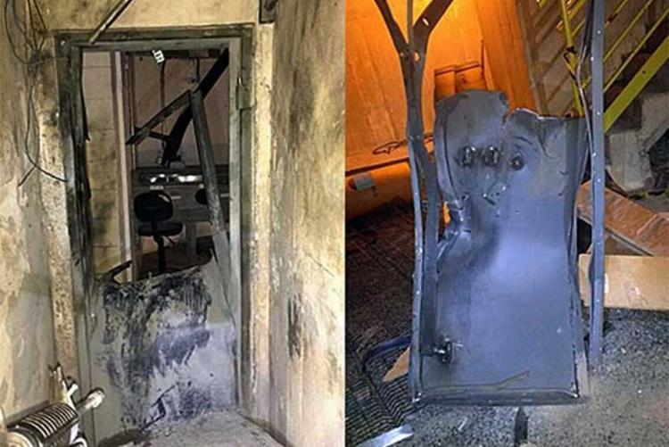 Grupo usou explosivos para ter acesso ao cofre da empresa - Foto: Santa Luz Notícias