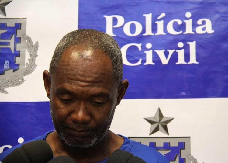 Gilson alegou que teve um surto no momento do crime - Foto: Ascom | Polícia Civil