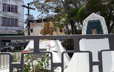 Escultura fica localizada na praça que leva o nome da ialorixá do Terreiro do Bogum - Foto: Reprodução
