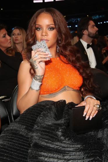 Rihanna durante a cerimônia do Grammy - Foto: Christopher Polk   Getty Images   AFP