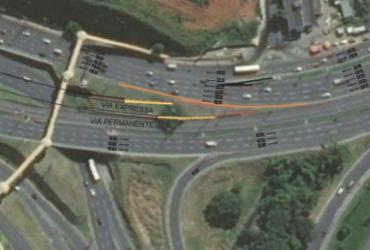 Obras da Via Expressa modificam tráfego na saída da Paralela