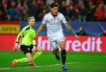Sevilla desperdiça chances, mas bate Leicester na ida da Liga dos Campeões
