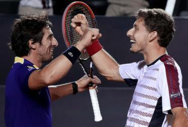 Finalista em simples, Carreño Busta é campeão com Cuevas nas duplas do Rio Open