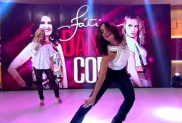 Fátima Bernardes dança axé e quase tropeça ao vivo