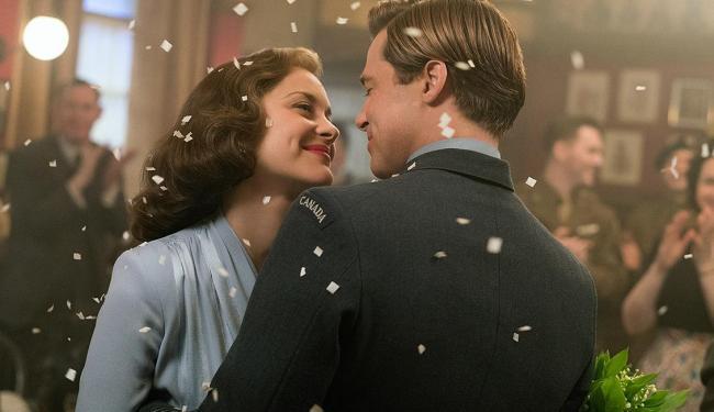 Brad Pitt e Marion Cotillard protagonizam o longa - Foto: Divulgação