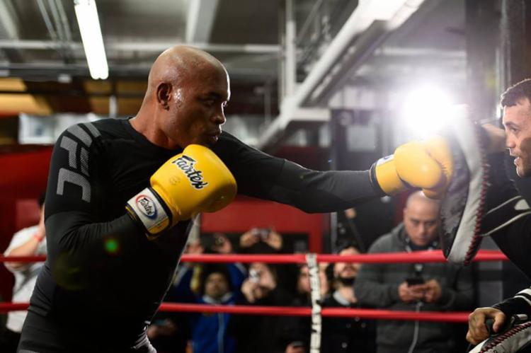 Anderson no último treino aberto antes da luta deste sábado - Foto: Reprodução | Facebook | UFC Brasil