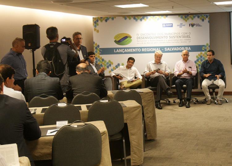Gestores de municípios debatem em encontro sobre Desenvolvimento Sustentável - Foto: Adilton Venegeroles l Ag. A TARDE
