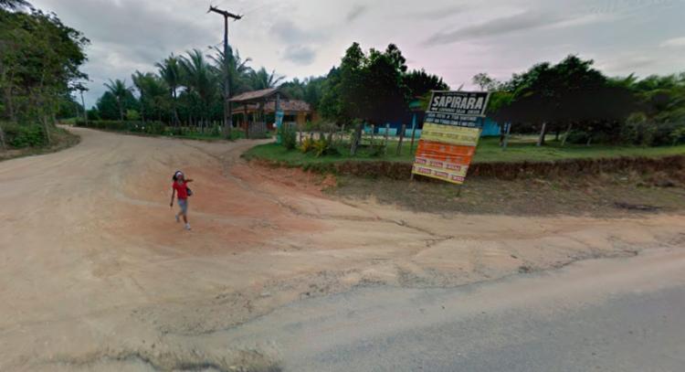 O crime aconteceu na Estrada Sapirara em Porto Seguro - Foto: Reprodução | Google Maps