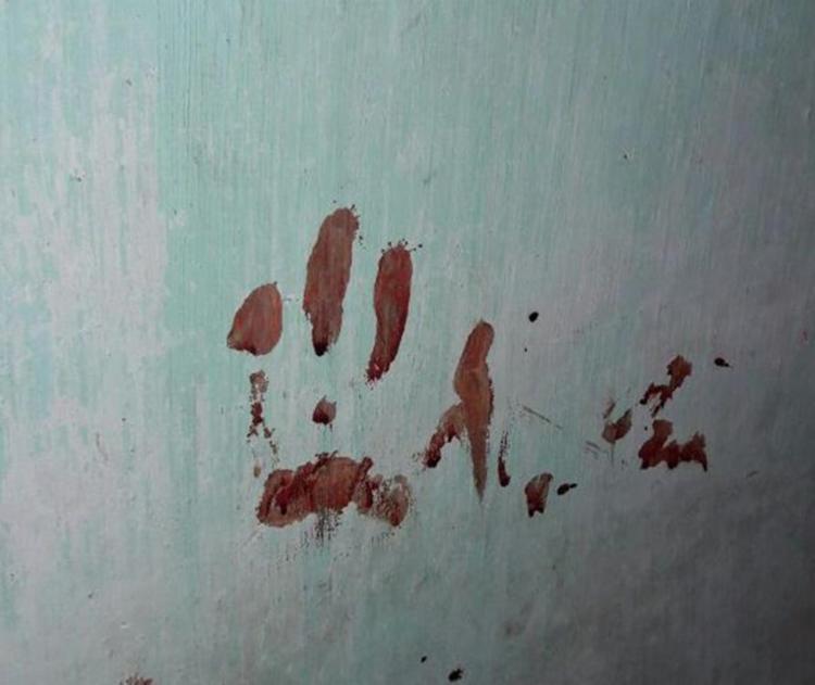 Marcas de sangue podem no local do crime - Foto: Reprodução | Aldo Matos | Acorda Cidade