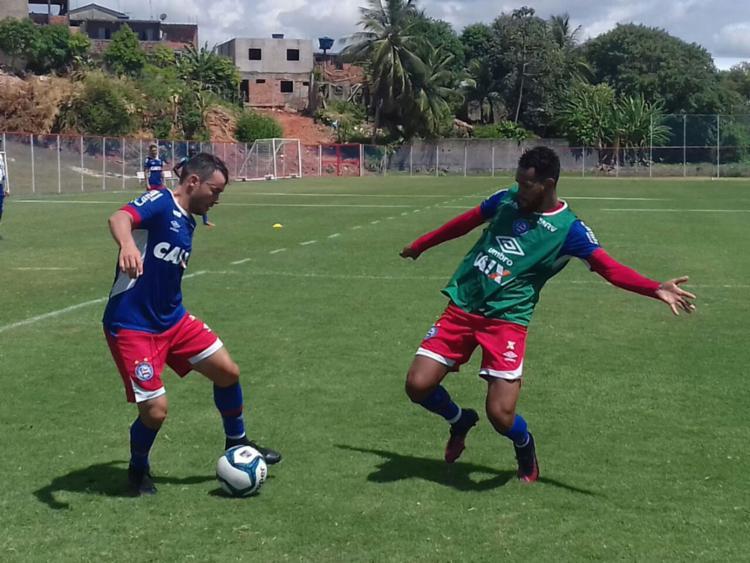 O time treinou na manhã desta quarta, 1º - Foto: Felipe Oliveira | EC Bahia