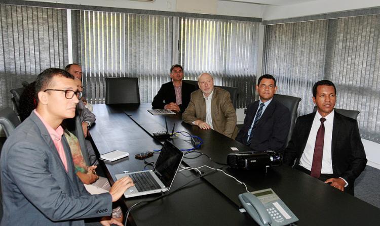 Dirigentes do Sicoob-BA durante visita ao Grupo A TARDE na manhã desta quarta-feira, 1º - Foto: Luciano da Matta l Ag. A TARDE