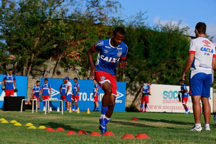 Atacante contou com insistência de Guto para engrenar e agradar torcida - Foto: Felipe Oliveira l EC Bahia