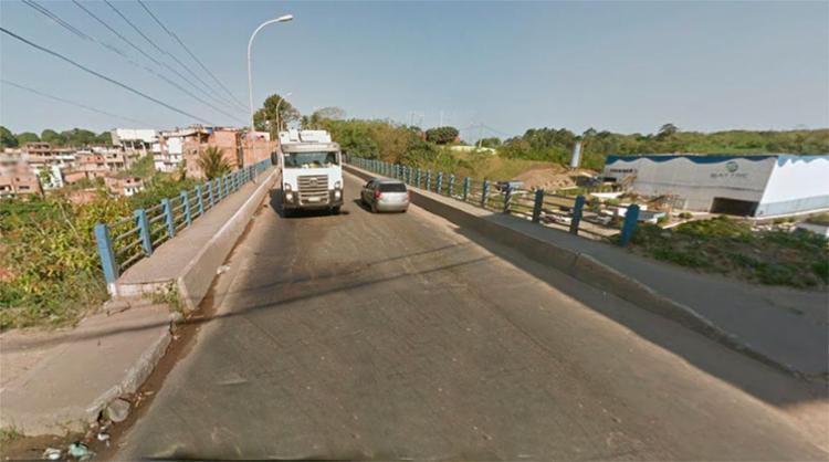 O corpo está próximo de uma ponte que dá acesso à Via Regional - Foto: Reprodução | Google Maps