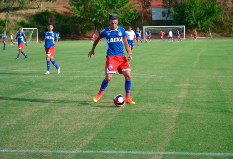 O time treinou com bola nesta sexta-feira, 17 - Foto: Felipe Oliveira | EC Bahia