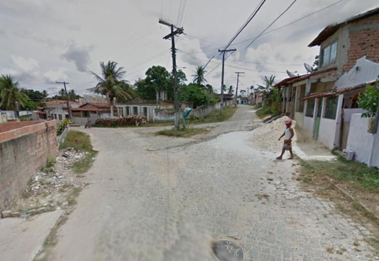 Crime aconteceu na travessa da Bandeira, em Mata de São João - Foto: Reprodução   Google Maps