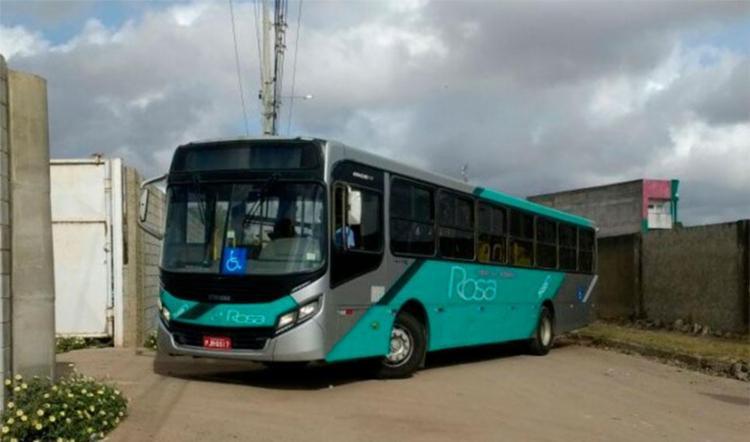 Banco recolheu ônibus por conta de atraso em financiamento - Foto: Paulo José | Reprodução | Acorda Cidade