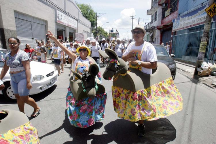 Troça com os equinos é feita desde a década de 1960 e faz a alegria dos itapagipanos - Foto: Luciano da Matta   Ag. A TARDE