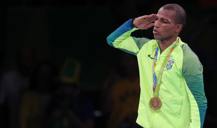 Robson foi o primeiro brasileiro a levar medalha de ouro no boxe - Foto: Flávio Florido   Exemplus   COB