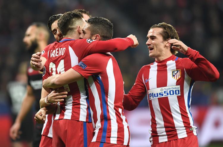 Fora de casa, Atlético partiu para cima do Leverkusen e ficou em vantagem - Foto: Federico Gambarini l AFP