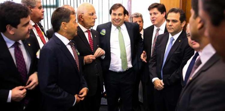 A eleição confirmou o favoritismo de Maia que contava com o apoio do Palácio do Planalto - Foto: Marcelo Camargo | Ag. Brasil