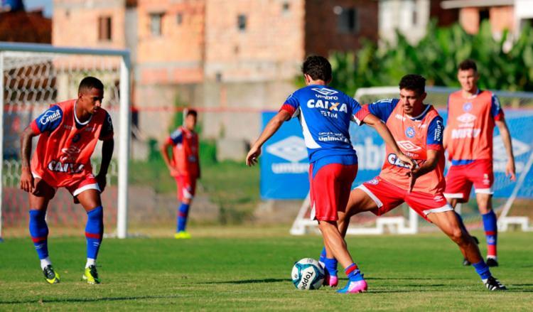 O time fez um treino técnico nesta quinta - Foto: Felipe Oliveira | EC Bahia