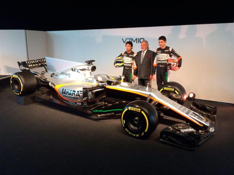 O carro foi apresentado nesta quarta-feira, 22 - Foto: Reprodução   Twitter   Sahara Force India