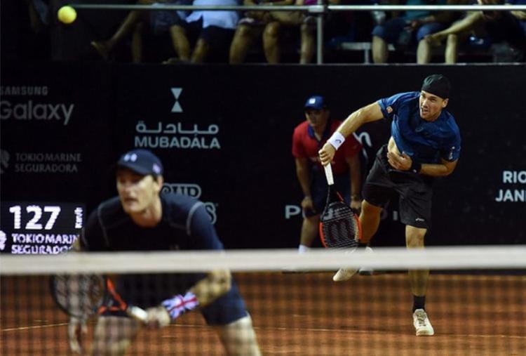 Dupla cabeça de chave número 1, Soares/Murray precisou do match tie-break para vencer os rivais - Foto: Fotojump l TênisBrasil