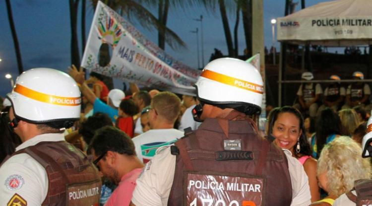 Confusão aconteceu durante passagem de PMs no Carnaval - Foto: Jorge Cordeiro | Divulgação | SSP