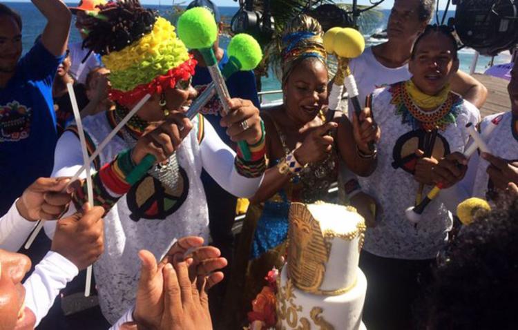Margareth desfilou neste sábado no circuito Dodô (Barra/Ondina) - Foto: Divulgação