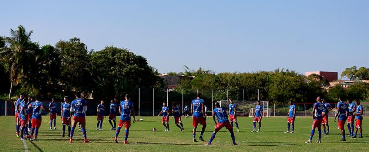 Tricolor inicia preparação para pegar o Altos-PI - Foto: Felipe Oliveira l Ag. A TARDE
