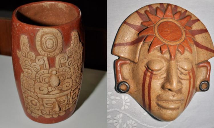 Vasos e mácaras de cerâmica são alguns dos objetos exibidos - Foto: Divulgação