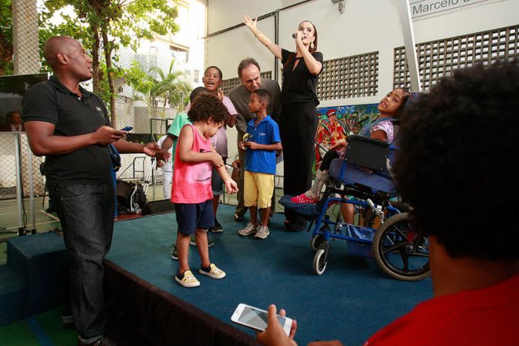 Madrinha Gilmelândia participa de festa em Ondina - Foto: Joá Souza l Ag. A TARDE