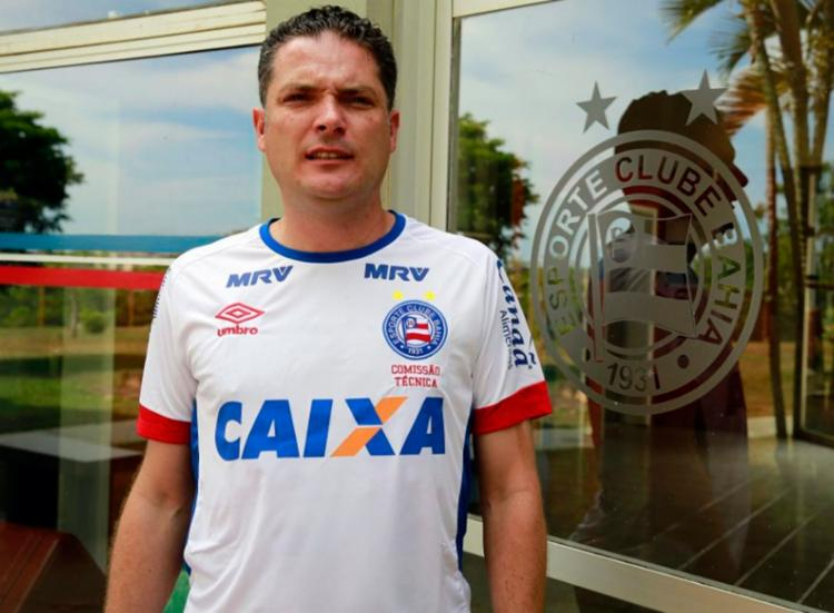 Marcelo Lima já com a camisa do Esquadrão - Foto: Felipe Oliveira | EC Bahia