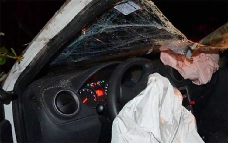 Motorista está com suspeita de fratura na clavícula - Foto: Reprodução | Sigi Vilares