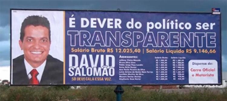 David Salomão disse que sua intenção é ser transparente - Foto: Reprodução | Site Rodrigo Ferraz