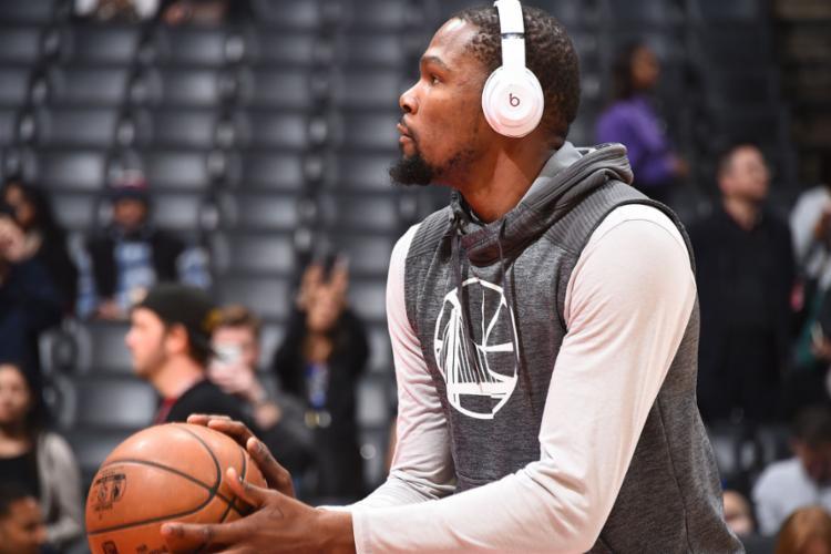 Durant trocou o Thunder pelo Warriors nesta temporada - Foto: Andrew D. Bernstein | NBAE | Getty Images | AFP