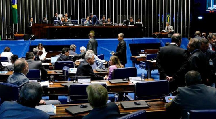 O placar foi de 43 votos a favor e 13 contrários - Foto: Roque de Sá | Agência Senado