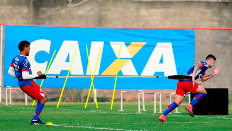 Elenco tricolor treinou forte no Fazendão nesta quinta-feira, 9 - Foto: Felipe Oliveira | EC Bahia