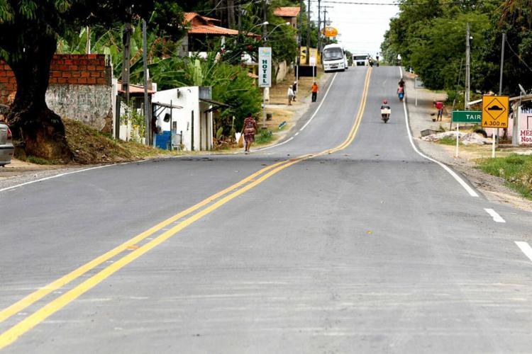 Estrada que recebeu intervenção em Vera Cruz (município na Ilha de Itaparica) - Foto: Manu Dias l Gov-BA