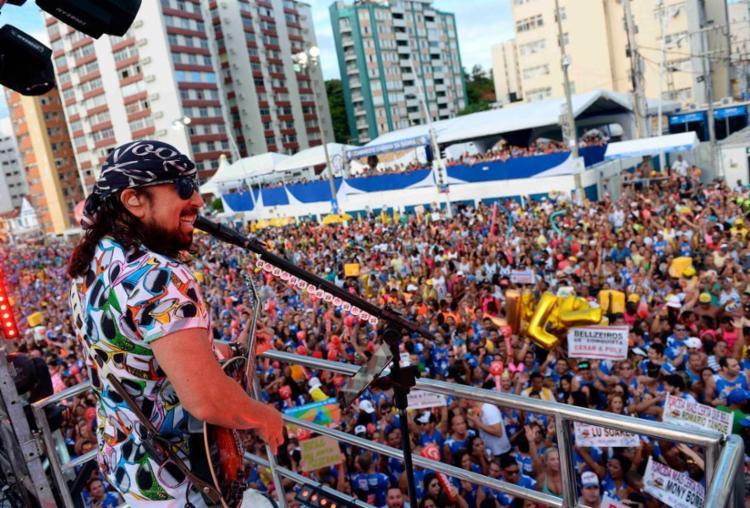 Bell vai tocar todos os dias do Carnaval no circuito Dodô - Foto: Alfredo Filho | Angelo Pontes | Secom PMS