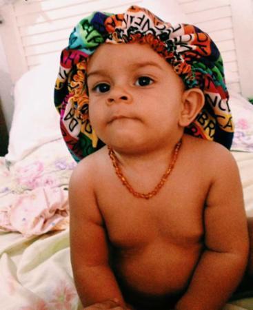 O pequeno Marley Rocha, de apenas nove meses, também não ficou de fora da folia | Foto: Rebeca Rocha | Cidadão Repórter