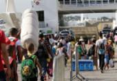 Usuários enfrentam filas de 2h30 para voltar para Salvador de ferry | Foto: